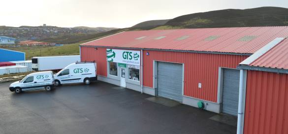 GTS Direct Shopfront with engineer vans